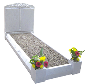 memorial-stones-Marble-Traditional-Kerb-Memorial-MK-1