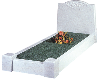memorial-stones-Marble-Traditional-Kerb-Memorial-MK-2