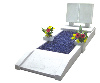 memorial-stones-Marble-Traditional-Kerb-Memorial-MK-4